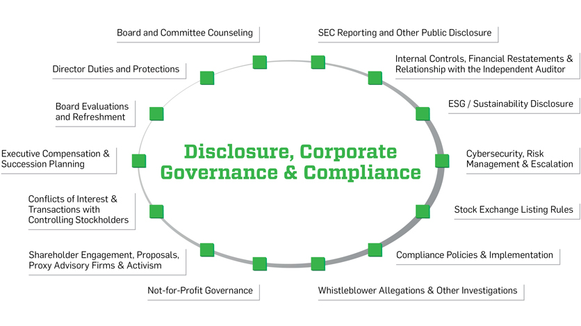 Complex Disclosure, Governance and Compliance Matters