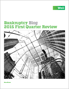 Bankruptcy Blog 2015 First Quarter Review