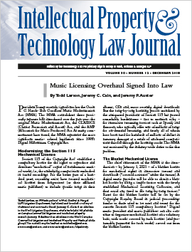 Intellectual Property Technology Law Journal