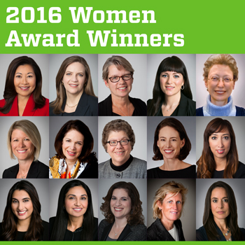 2016 Women Award Winners