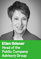 Ellen Odoner, Head of the Public Company Advisory Group